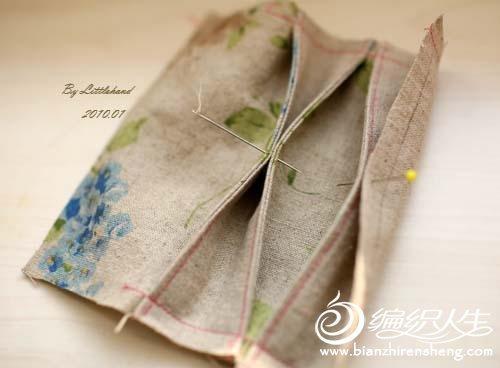 简单的花朵束口袋手工制作教程