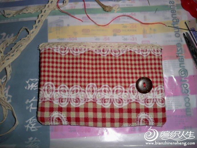手工布艺卡包的制作过程