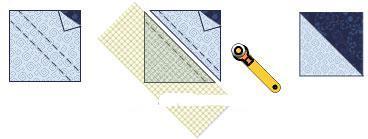 美国人的拼图1/4方块拼布制作技巧