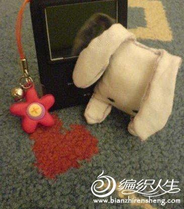 布艺卡通玩具DIY之可爱的另类兔兔挂件