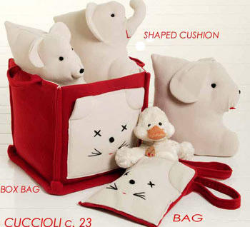 八款俏皮可爱的小动物布艺饰品