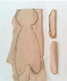 手工制作毛绒玩具双面娃娃的教程