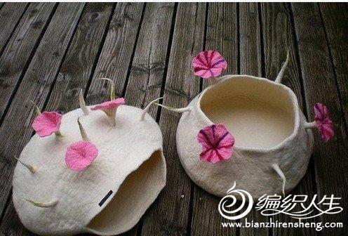 创意布艺作品羊毛毡DIY可爱猫窝欣赏