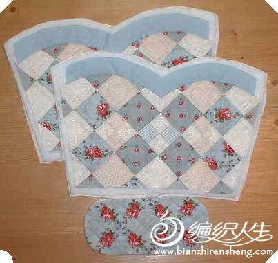 极具田园风的拼布手提包制作过程