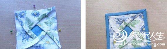 玫瑰花瓣拼布杯垫的制作过程