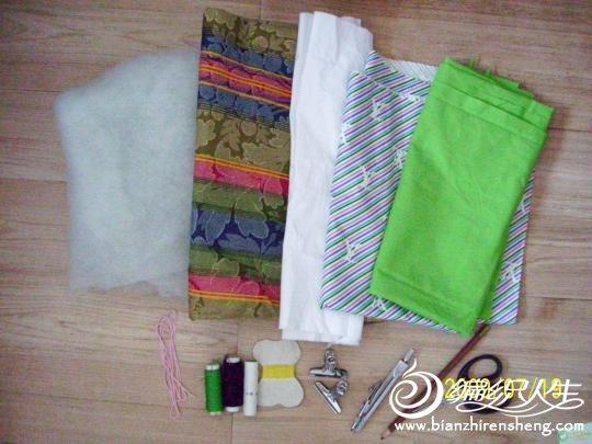 布艺小青鱼束口袋DIY制作教程