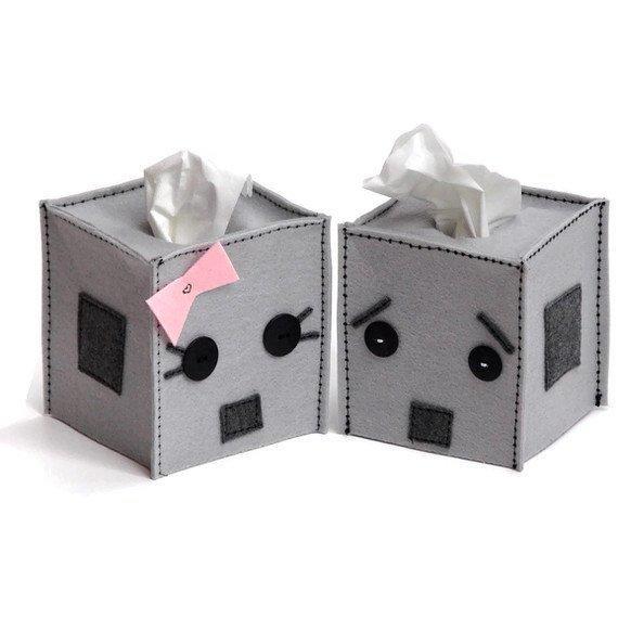 不织布 手工布艺制作个性纸巾盒图片