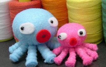 布艺手工制作 不织布制作八爪章鱼图解
