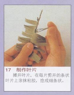 用衬衫和纽扣手工制作布艺波斯菊的过程