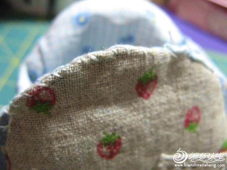 DIY个性草莓口金包制作方法图解