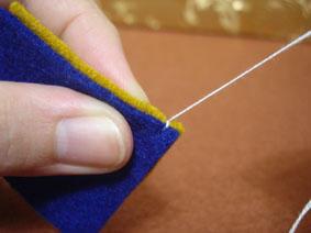 如何缝制不织布毛边针法图解