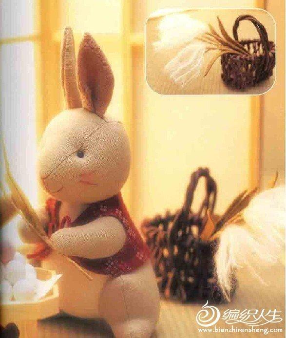 两种手工布艺兔子制作