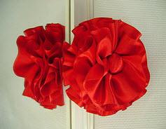 一些用丝绸制作的布艺小花作品图片