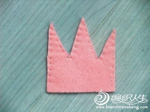 diy布艺手工小制作公主皇冠发卡教程图解