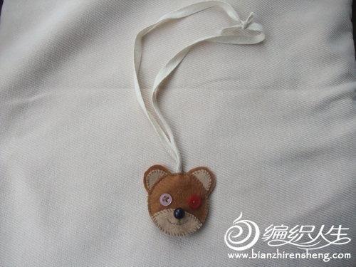 给宝宝做一个小熊不织布钥匙包