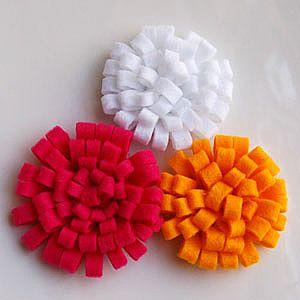 不织布手工制作漂亮花朵图解