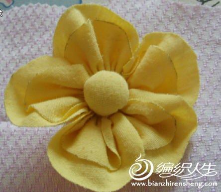 布艺手工diy制作漂亮的花朵教程图解
