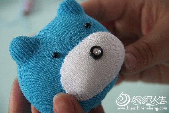 布艺制作DIY袜子小熊玩偶详细教程