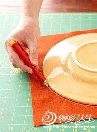 手工制作布艺蔷薇图案抱枕图片