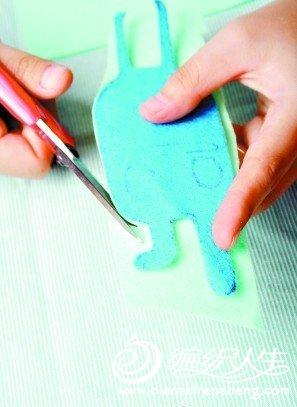 手工制作  不织布兔子挂件