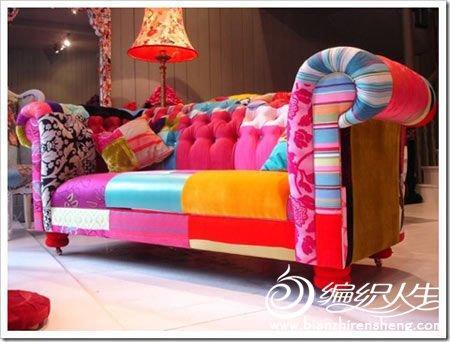 创意DIY打造个性拼布沙发