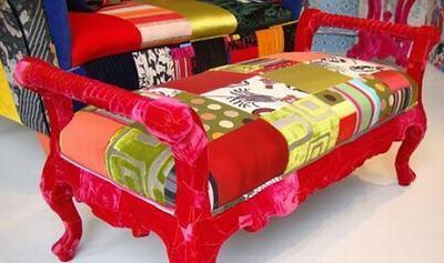 各种七彩个性创意拼布沙发图片