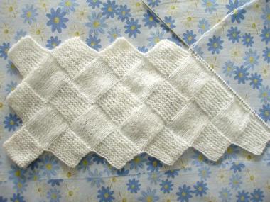 关于编织菱形围巾的方法