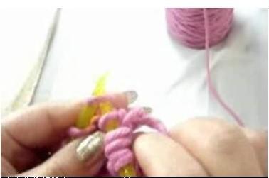 手工围巾编织情侣款 鱼骨针围巾织法教程