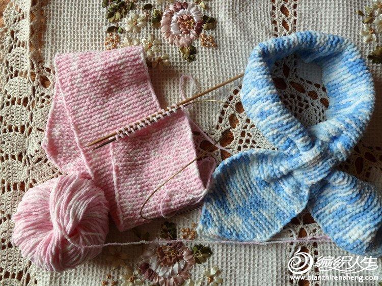 漂亮蝴蝶围巾的编织方法