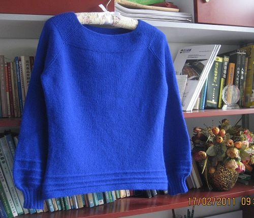 一款羊绒插肩毛衣的编织教程