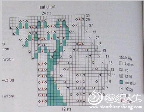 一件真丝短袖的编织过程图解