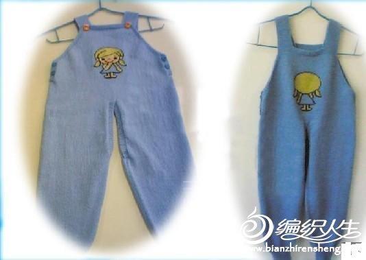 宝宝背带毛线裤的编织教程