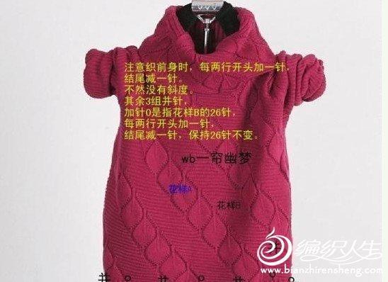 保暖又漂亮的高翻领镂空毛衣