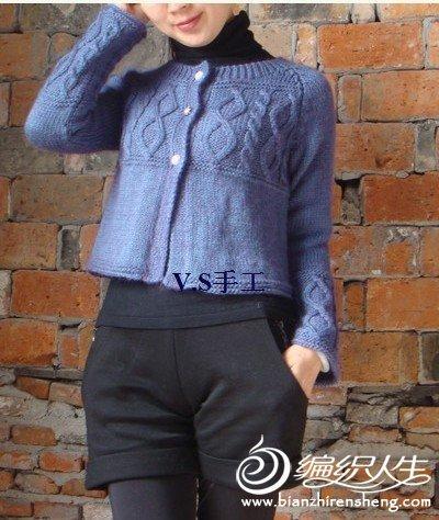 一款棒针开衫小短装毛衣的编织教程