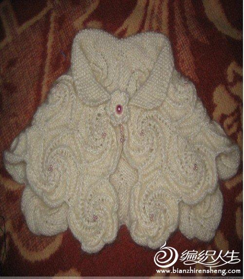 螺旋花儿童小披肩的编织针法
