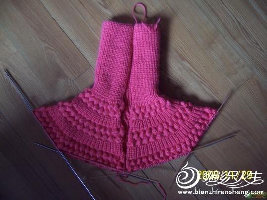 编织教程 diy手工编织宝宝枣子花毛衣教程图解  一共加3次针,就是每次