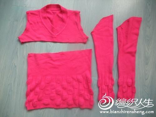 废物利用 成人旧毛衣改造变身儿童时尚毛衣教程图解