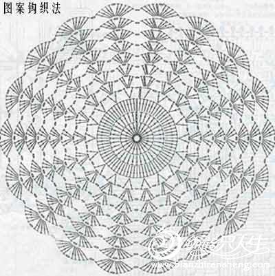 钩针基础之雏菊花图案的教程图解