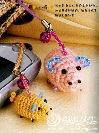 钩针编织之小猪挂饰的制作过程