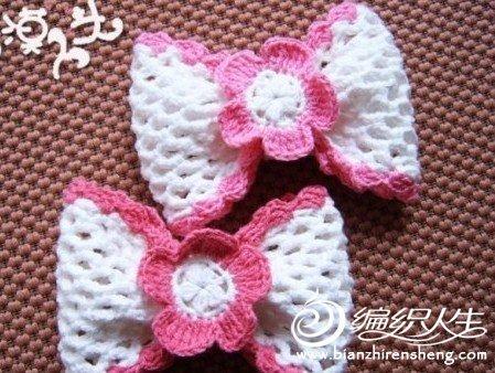 美丽蝴蝶结的钩针编织教程图解