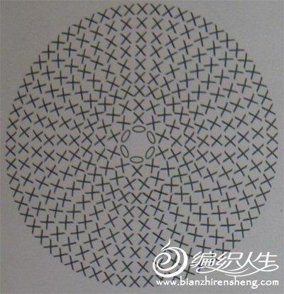 毛线编织心形插针的教程图解