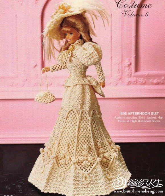 漂亮的钩针作品 芭比娃娃的衣服