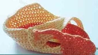一款钩针宝宝鞋的基本教程