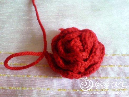 钩针作品之玫瑰花的的编织步骤