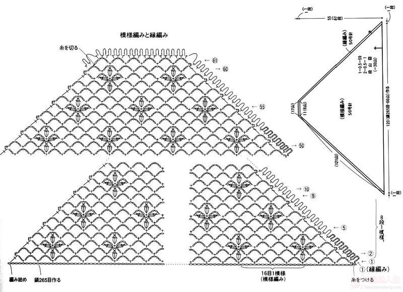 一款简单实用的三角披肩(有图解)