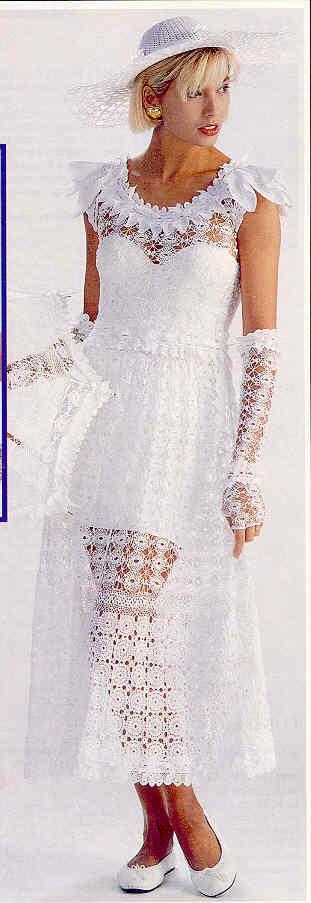 Free Crochet Wedding Dress Patterns Download Manet For