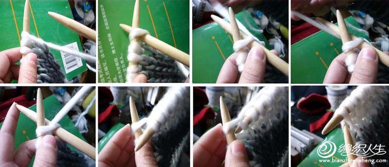 棒针编织之毛线围巾的教程图解