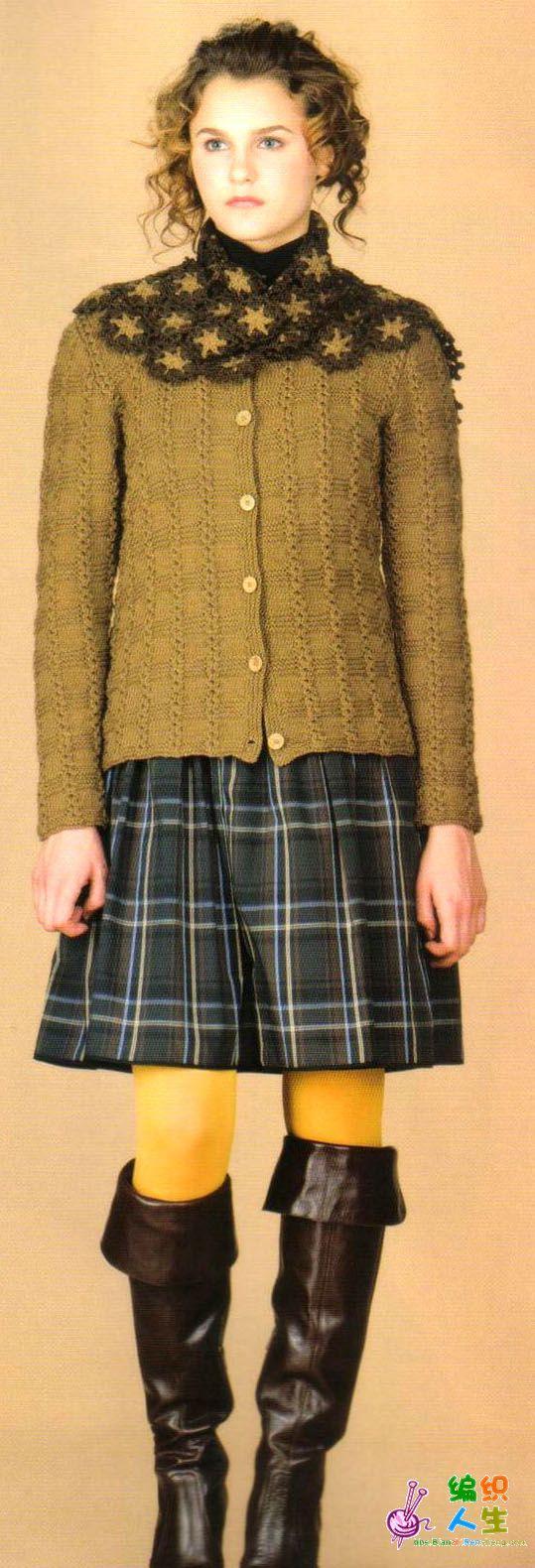 毛衣围巾套装(有图解)