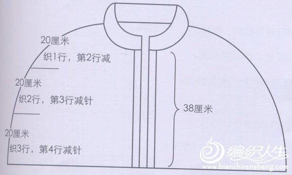 棒针毛衣编织款式之玫瑰披肩教程