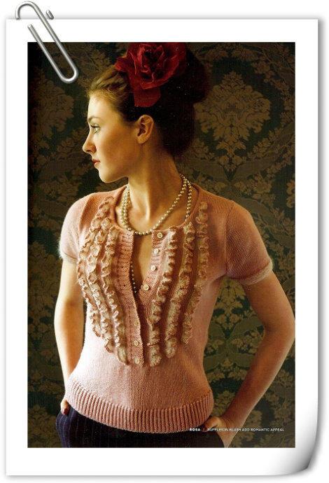 木耳花边短袖——附详细编织方法